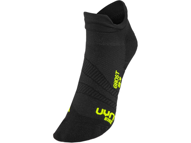 UYN Cycling Ghost Chaussettes Homme, black/yellow fluo